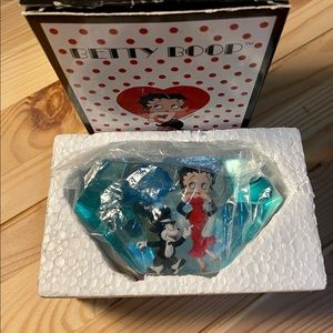 Rare Betty Boop & Bimbo Diamond Paperweight